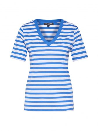SELECTED FEMME Tricou  albastru / alb