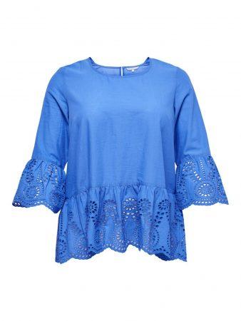 ONLY Carmakoma Tricou 'SANTAFE' albastru