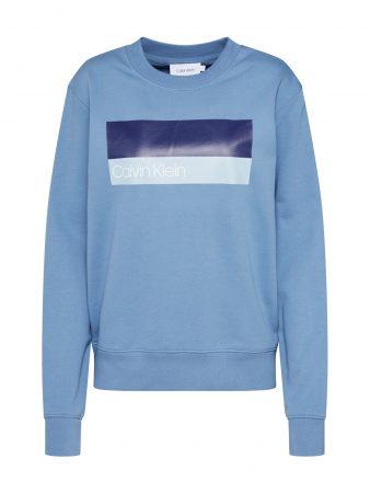Calvin Klein Bluză de molton 'DUO LOGO PRT SWEATSHIRT LS'  albastru