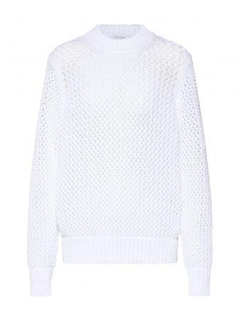 Calvin Klein Pulover 'NOVEL OPENWORK'  alb