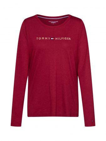 Tommy Hilfiger Underwear Bluză de noapte 'CN TEE LS LOGO GOLD'  roșu