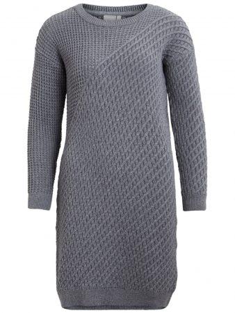 OBJECT Rochie tricotat  gri