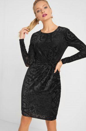 Rochie catifelată cu model