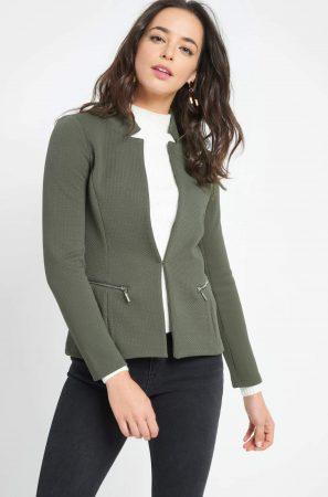 Jachetă cambrată cu fermoare