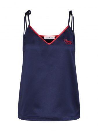 Tommy Hilfiger Underwear Bluză de noapte  albastru închis / roșu
