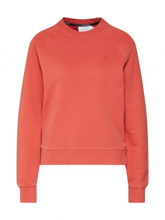 Calvin Klein Bluză de molton 'GARMENT DYE'  roșu orange