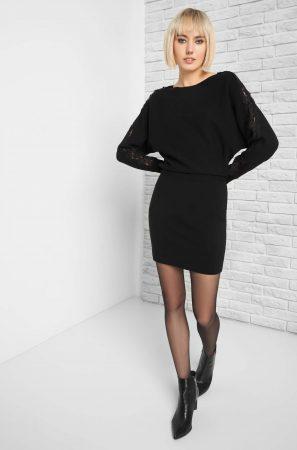 Rochie de tricot cu dantelă