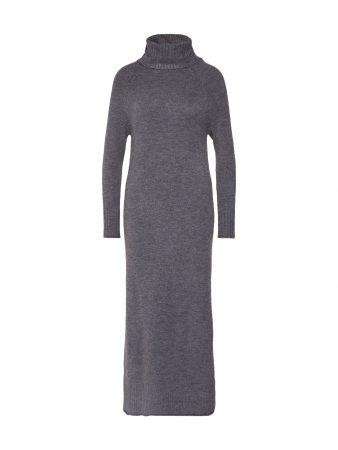 ONLY Rochie tricotat 'onclean l/s rollneck dress KNT'  gri
