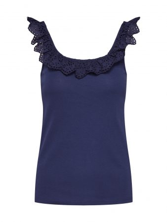 EDC BY ESPRIT Top 'Square Neck Tee'  navy