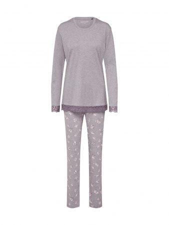 SCHIESSER Pijama gri-maro