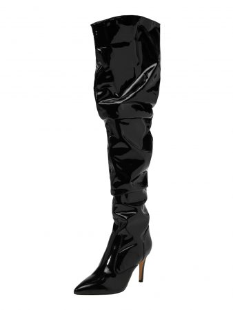 BUFFALO Cizme peste genunchi 'FIZA' negru
