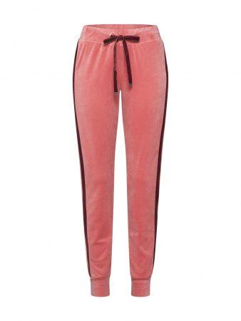 Hunkemöller Pantaloni de pijama 'Jogger Velours Stripe'  roz