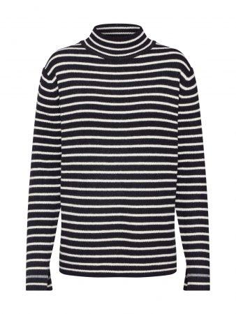 Calvin Klein Pulover 'BRETON MOCK'  bej / negru