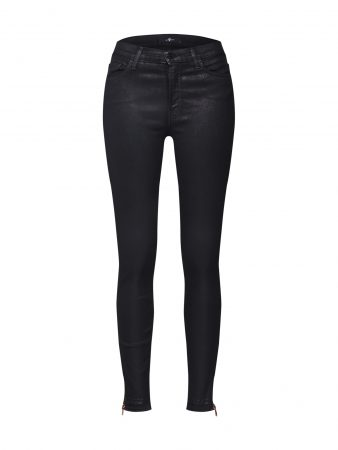 7 For All Mankind Jeans 'HW SKINNY CROP'  negru