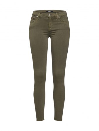 7 For All Mankind Jeans 'THE SKINNY CROP'  kaki