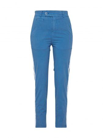 DRYKORN Pantaloni eleganți  albastru / alb