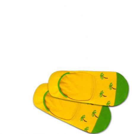 DillySocks Șosete joase 'Hidden Palm Beach'  galben / verde