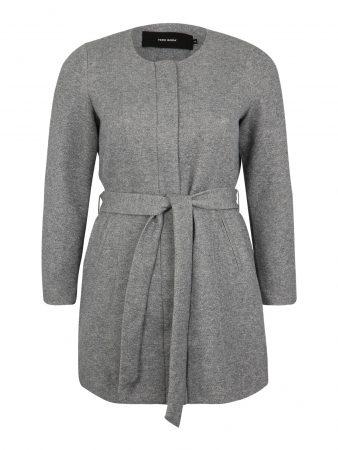 Vero Moda Curve Palton de primăvară-toamnă 'JULIA'  gri deschis