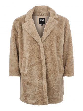 Urban Classics Curvy Palton de primăvară-toamnă 'Sherpa Coat'  nisip