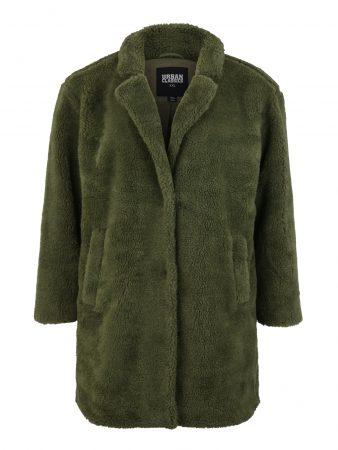 Urban Classics Curvy Palton de primăvară-toamnă 'Sherpa Coat'  oliv