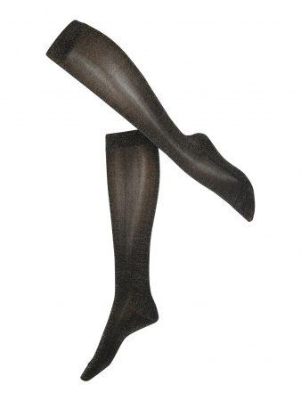 FALKE Ciorapi trei sferturi 'Shiny KH'  negru