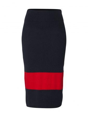 Calvin Klein Fustă  navy / roșu