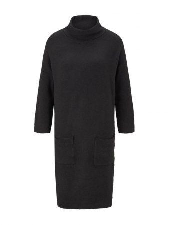 TOM TAILOR Rochie tricotat  negru