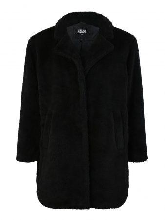Urban Classics Curvy Palton de primăvară-toamnă 'Sherpa Coat'  negru