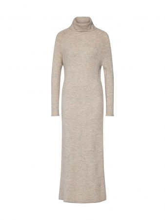 ONLY Rochie tricotat 'onclean l/s rollneck dress KNT'  bej / gri-maro