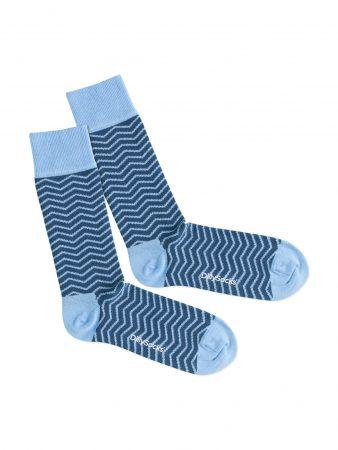 DillySocks Șosete 'Square Wave'  albastru / albastru deschis