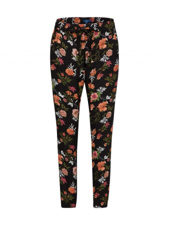 TOM TAILOR Pantaloni largi culori mixte / negru