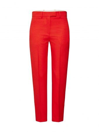 Calvin Klein Pantaloni cu dungă 'UNIFORM TWILL CIGARETTE PANT'  roșu