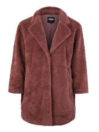 Urban Classics Curvy Palton de primăvară-toamnă 'Sherpa Coat'  maro