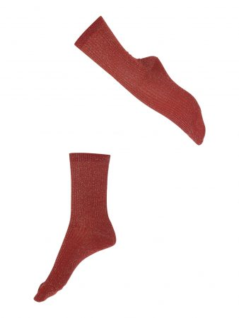 FALKE Șosete 'Shiny Rib SO'  roșu