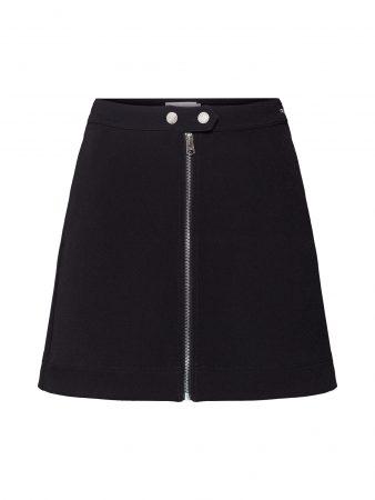 Calvin Klein Fustă 'DOUBLE CREPE'  negru