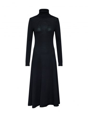 Lauren Ralph Lauren Rochie tricotat 'DILARA-LONG SLEEVE-CASUAL DRESS'  negru