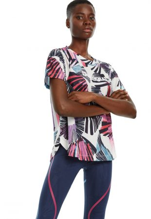 Tricou cu model tropical